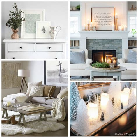 clean cozy neutral winter decorating ideas  happy housie