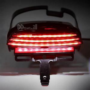Tri bar fender led tail light bracket for harley davidson