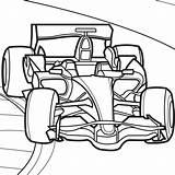 Coloring Race Driver Getdrawings Racecar sketch template