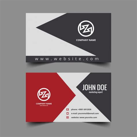 clean visiting card design  vector