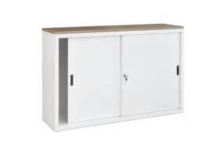 armoire basse de bureau 160ls armoire basse à portes coulissantes h76xl160xp45cm