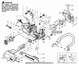 Poulan Ppb1634le Gas Saw Parts Diagram For Chassis  U0026 Handle Assembly