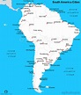 South America Cities Map | Cities Map of South America ...