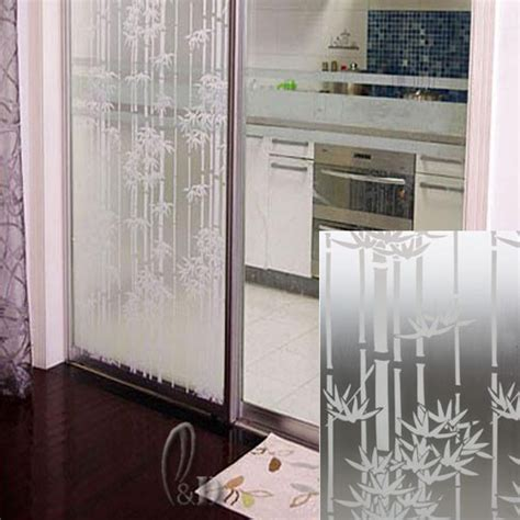 removable privacy window 92cm x1m bamboo privacy frosted frosting removable glass 4700