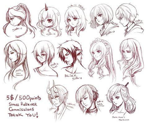 male anime hairstyles drawing  getdrawings