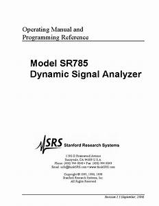Sr510 Lock In Amplifier Manual