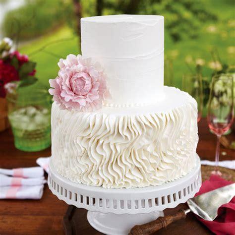 peony crepe wedding cake wilton