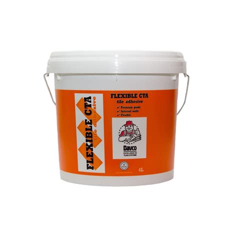 davco 4l white flexible cta tile adhesive bunnings warehouse