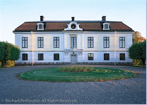 Scandinavian Country House by White Swedish Manor House With Exterior Clock A