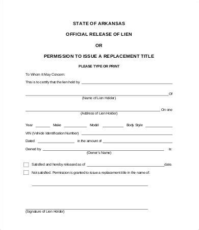 lien waiver template lien release form 8 free word pdf documents free premium templates