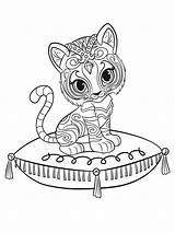 Shine Shimmer Coloring Pages Printable Print sketch template