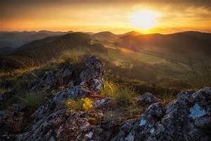 Wallpaper, Sunlight, Landscape, Mountains, Sunset, Hill