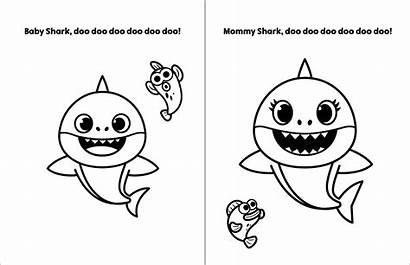 Shark Coloring Pinkfong Colorir Sheet Desenho Printable