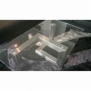 Table Basse Verre Design : table basse design inox verre ~ Teatrodelosmanantiales.com Idées de Décoration