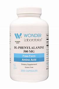Dl-phenylalanine 500 Mg Free Form Amino Acid 250 Capsules