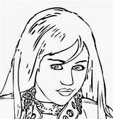 Coloring Pages Cyrus Miley Hannah Montana Famous Printable Celebrities Disney Bieber Adults Filminspector Justin sketch template