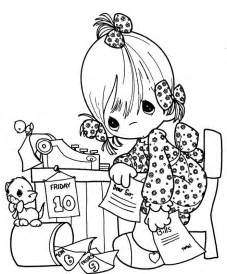 Precious Moments Coloring Pages Day