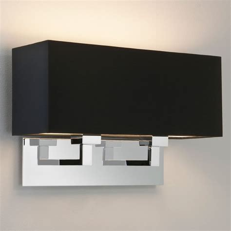 astro park lane grande twin polished chrome wall light at