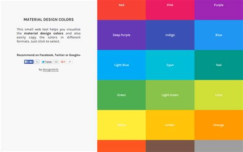 material colors material design color palettes 9 useful tools webfx