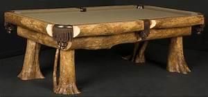 Hand Made Ironwood Billiard Table by Viking Log Furniture