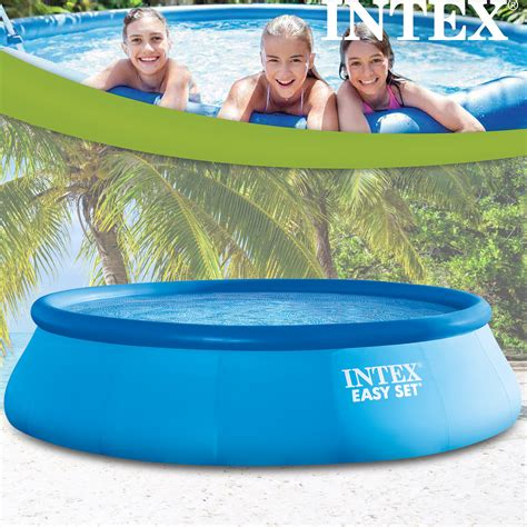 up pool 366x91 intex 366x91 cm easy set bestehend aus pool filterpumpe und leiter