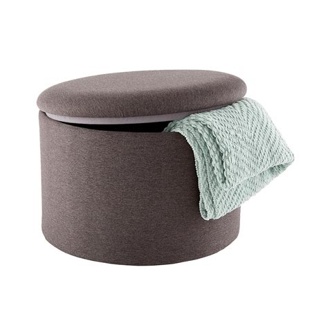 what s an ottoman poppin grey roundabout storage ottoman the