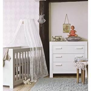 Chambre Enfant Blanc : chambre b b essentielle bois massif blanc aaroblck02 ~ Teatrodelosmanantiales.com Idées de Décoration