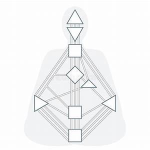 Vector Monochrome Human Design Bodygraph Stock Vector