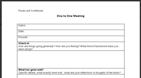 1 on 1 meeting template 1 on 1 meeting form myideasbedroom