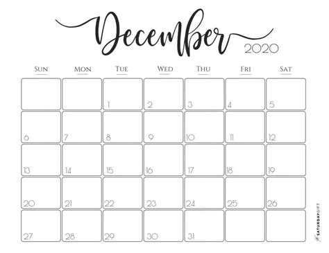 elegant  calendar  printables saturdaygift