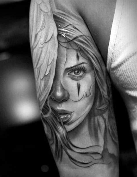 details | Chicano style tattoo, Clown tattoo, Hyper