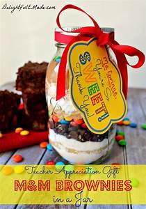 Made Com : m m brownies in a jar with free printable delightful e made ~ Orissabook.com Haus und Dekorationen