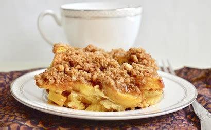 Peach Cobbler French Toast Casserole Tasty Kitchen