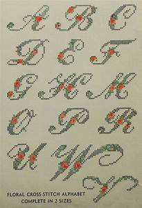vintage 1940s floral alphabet embroidery hot iron transfer With embroidery letter transfers