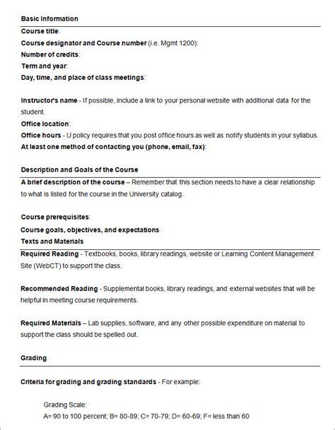 syllabus template syllabus template free templates free premium templates