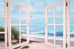 Sandpiper Beach Doors Painting by Diane Romanello