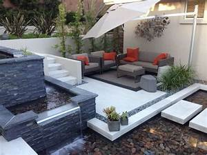 20 awesome small backyard ideas water features backyard With amazing fontaine exterieure de jardin moderne 7 decoration terrasses jardins