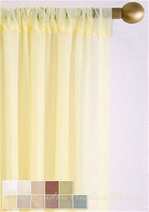 voile Plain Semi Sheer Curtain Drapery Panels