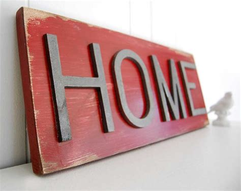 Primitive Sign Wood Sign Home Sign Corona Red Metal Sign Home