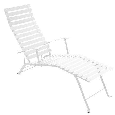 chaise longue fermob fermob bistro metal chaise longue cotton white