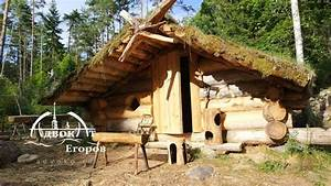 Off Grid Log Cabin Built by One Man: Making a Bear Escape ...