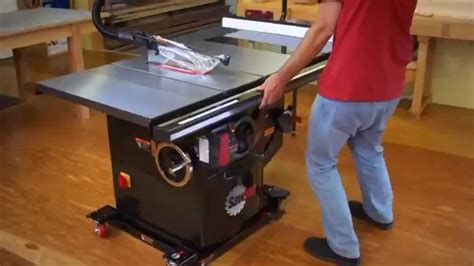 table saw stops dog sawstop industrial cabinet saw youtube