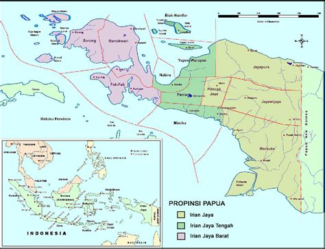 map of papua irian jaya pt vip tour travel bali