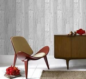 Papier Peint Trompe L Oeil Bois : papier peint trompe l 39 oeil imitation bois clair ~ Premium-room.com Idées de Décoration