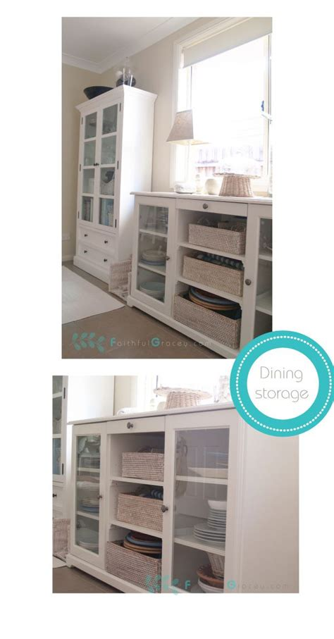 Ikea Dining Room Storage by Ikea Hemnes Cabinet And Liatorp Sideboard For Dining Room