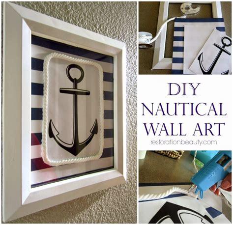 Coastal Bathroom Wall Decor by 16 Nautical Diy Projects Tgif This Is