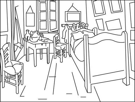 chambre de gogh coloring book gogh room arles 517694 coloring pages