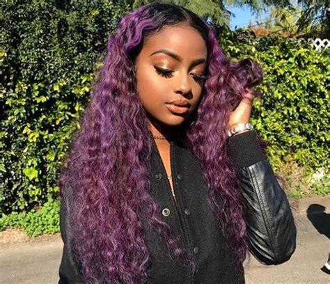 justine skyes  purple hairstyle