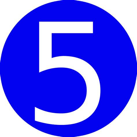 Blue, Rounded,with Number 5 Clip Art At Clkercom Vector