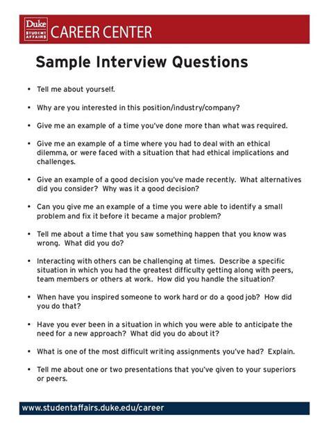 sample interview questions ideas  pinterest